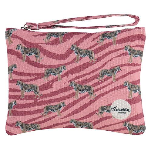 go get em tiger coral pink clutch