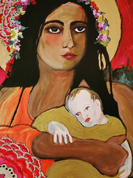Madonna and Child inspired by the Madonn