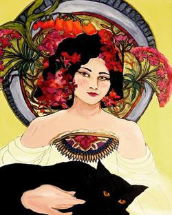 Black cat inspired by Longwood Gardens #