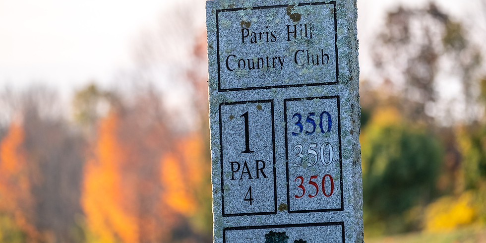 Official Paris Hill Golf Opening Day