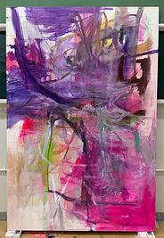 「美しい経験-The Beautiful Experience-」solo exhibition Naoko Watanabe, painting in progress