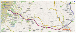 adelaide to Mann Map