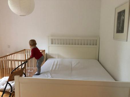 Rausfallschutz für ein gemeinsames Bett