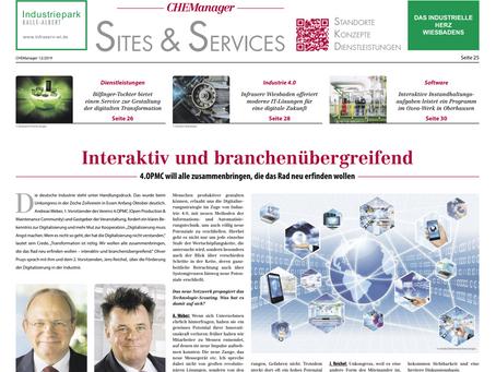 """""""Verein 4.OPMC fordert ein klares Bekenntnis zur Digitalisierung"""" - CHEManager 12/2019"""