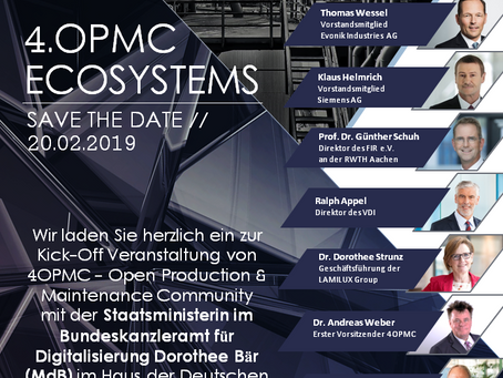 SAVE THE DATE // 4OPMC ECOSYSTEMS // 20. FEBRUAR 2019 // BERLIN