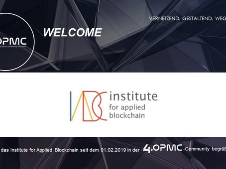 Das Institute for Applied Blockchain unterstützt 4OPMC als Mitglied