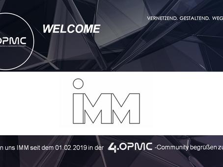 Das IMM unterstützt 4OPMC als Mitglied