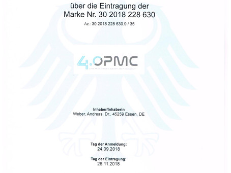 4OPMC ist jetzt als Marke beim DPMA eingetragen