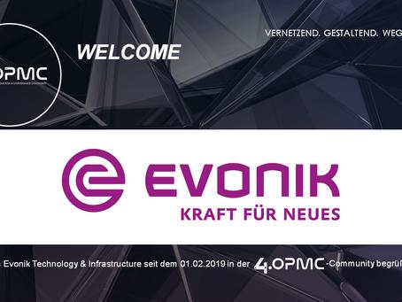 Evonik Technology & Infrastructure GmbH unterstützt 4OPMC als Mitglied