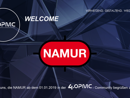 NAMUR unterstützt 4OPMC als Mitglied