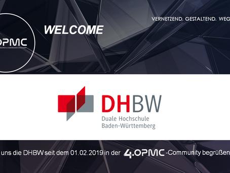 Die Duale Hochschule Baden-Württemberg unterstützt 4OPMC als Mitglied