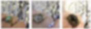 Spezielle Ringe von Wolbeek Schmuck Unikate mit Opal, Fluorit und schwarzem Sterndiopsid