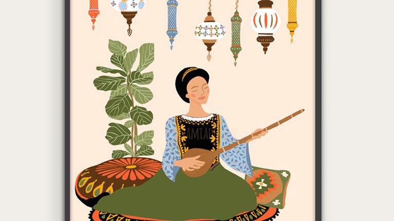 Tanbur player