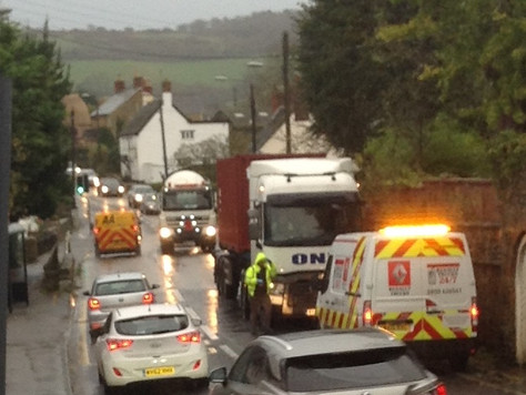 Another broken down HGV on A35 in Chideock causes long delays