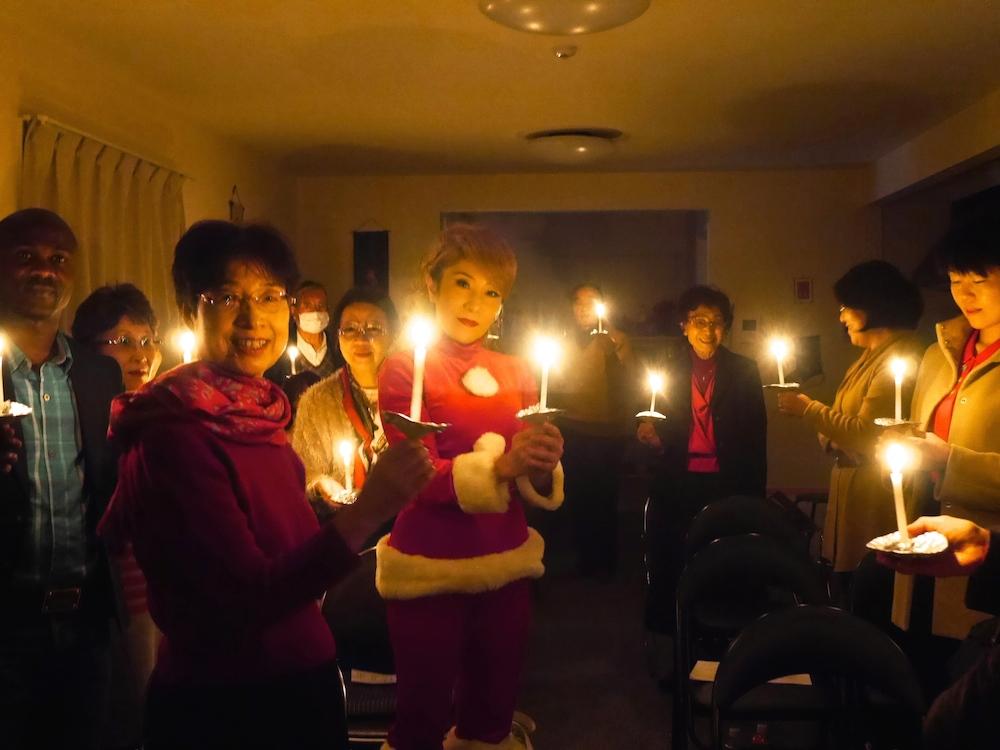 浦安国際キリスト教会キャンドルサービス