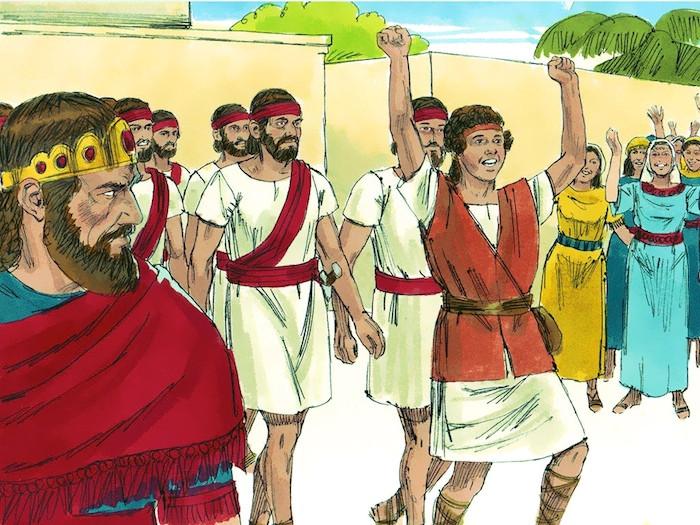 サウルは千を打ち、ダビデは万を打った。