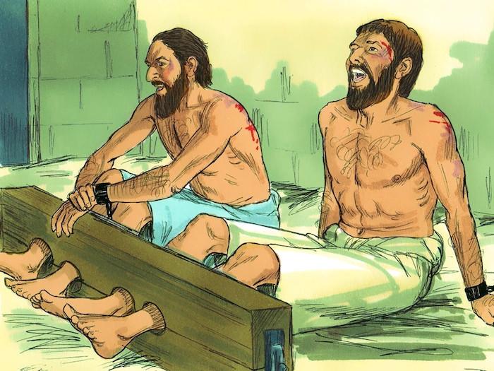 牢につながれたパウロとシラス Paul & Silas in Jail