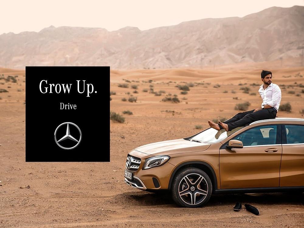 """Mercedes-Benz """"grow up"""""""