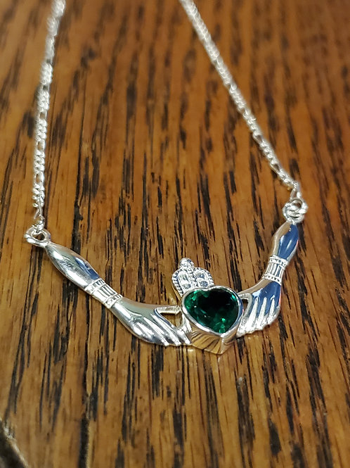 Celtic Claddagh sterling silver necklace