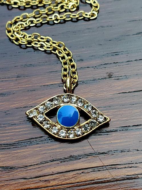 Tiny Evil Eye necklace