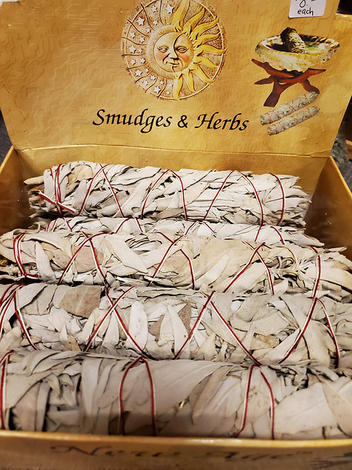 """Sacred White Sage Smudge Sticks 8-9"""""""