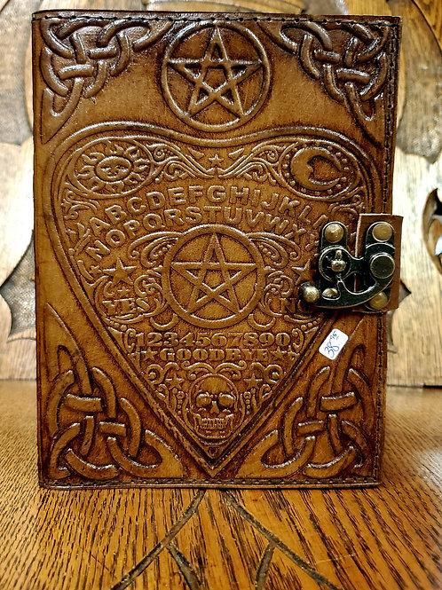 Ouija Pentagram Leather Journal