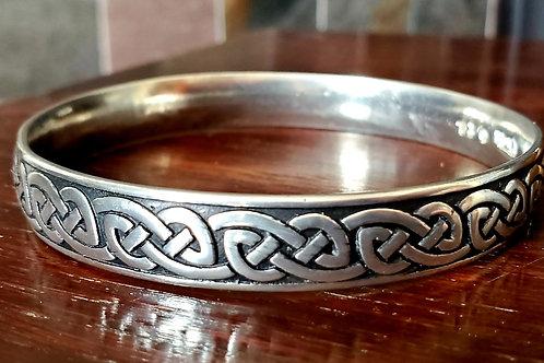 Celtic knot pewter circlet bracelet