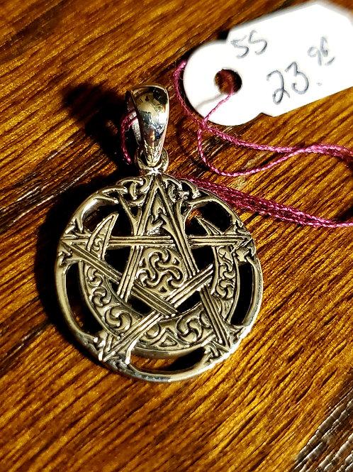 Pentagram/Moon/Celtic Knotwork Pendant