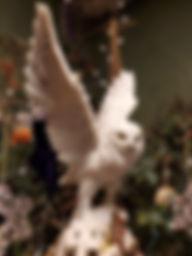 Snowy owl statue
