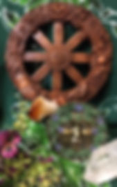 Greenman with Wheel of the Year wall plaque