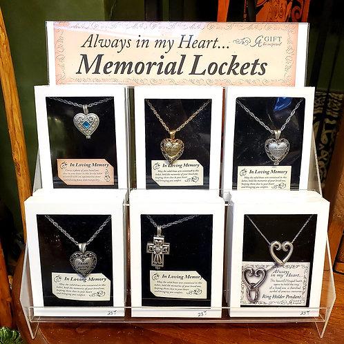 Always in my Heart... Memorial Lockets
