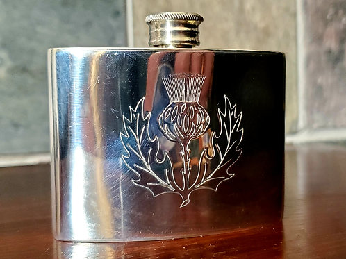 Thistle mini flask