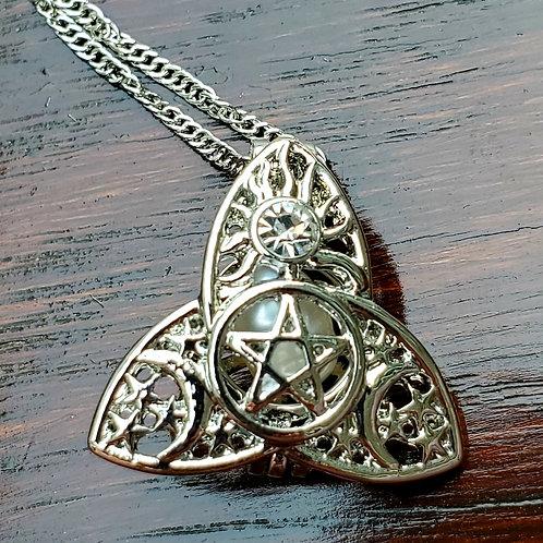 Triquetra/Pentacle necklace