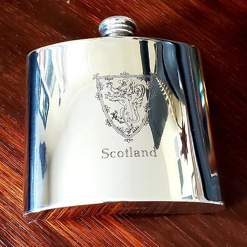 Scotland lion crest flask