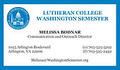 Front of LCWS Business Card
