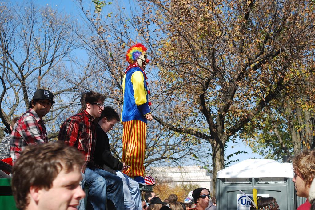 Clown at a Rally