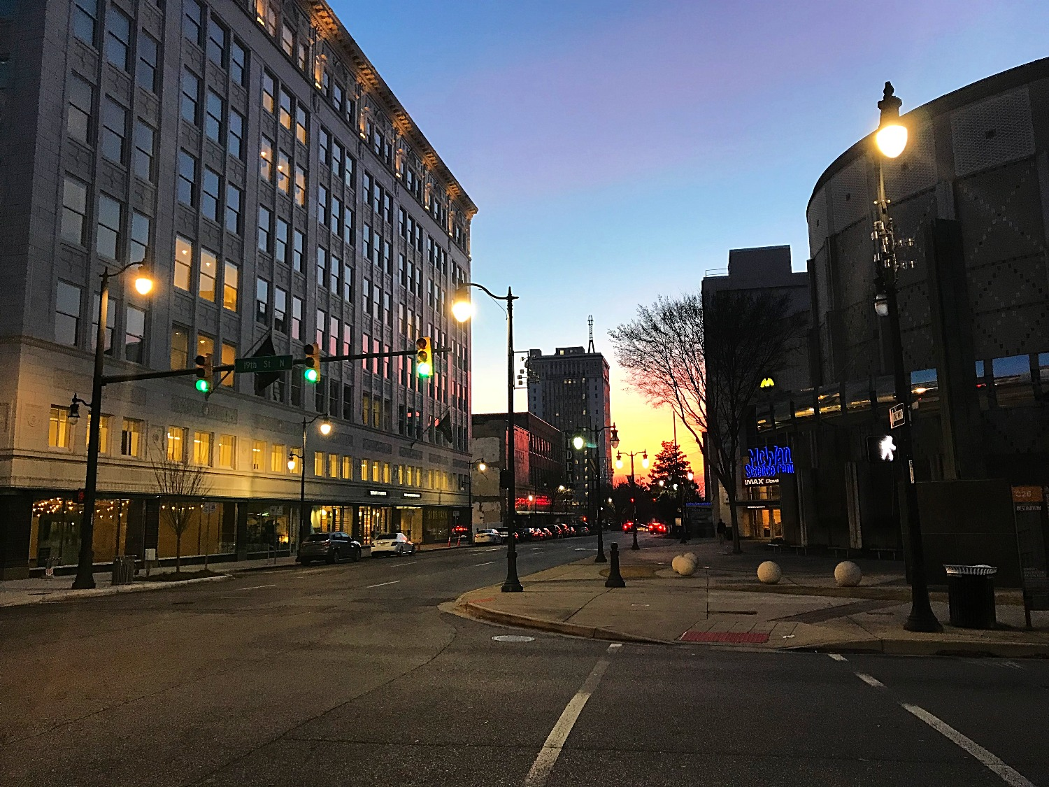 2nd Ave at Sunset