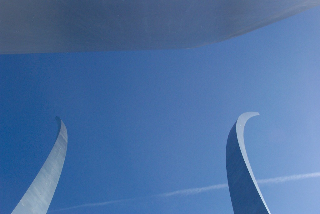 Air Force Memorial from Underneath