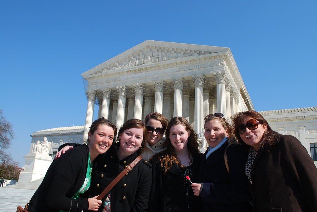 Students at Supreme Court