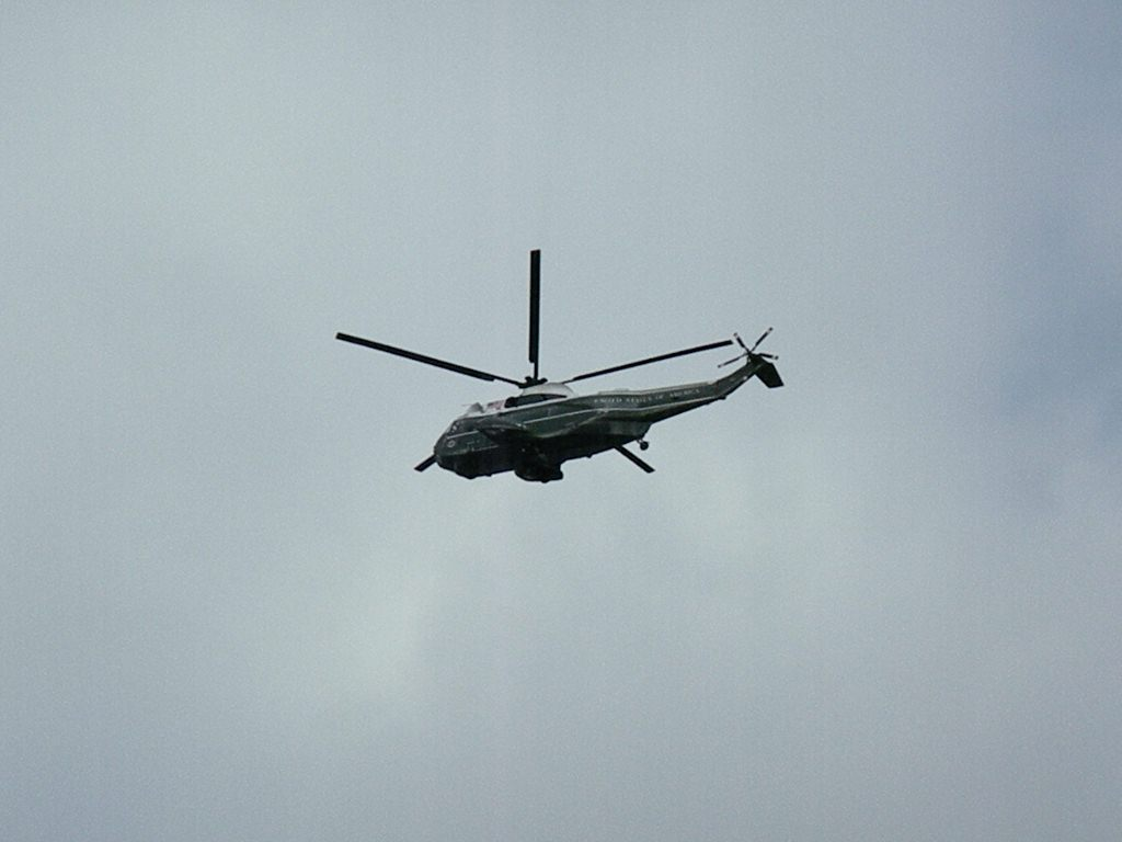 President Bush leaving Obama Inauguration