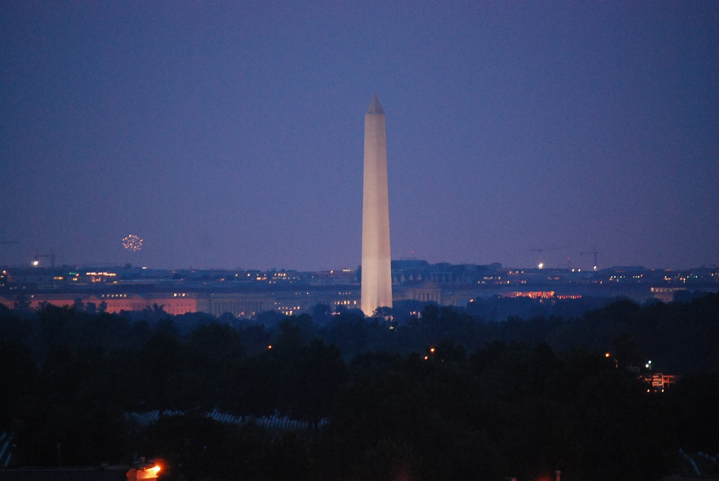 Washington Monument on 4th of July
