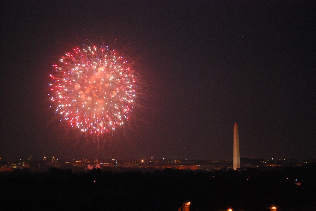Washington Monument on 4th of July 2