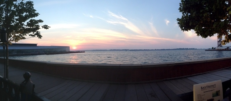 Dinner by Lake Erie