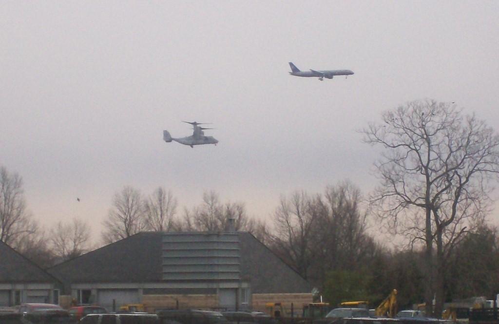 Osprey Test Flight at Pentagon