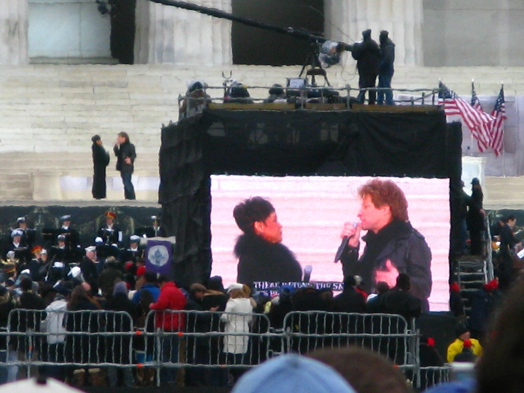 Bon Jovi Performing at Lincoln Memorial