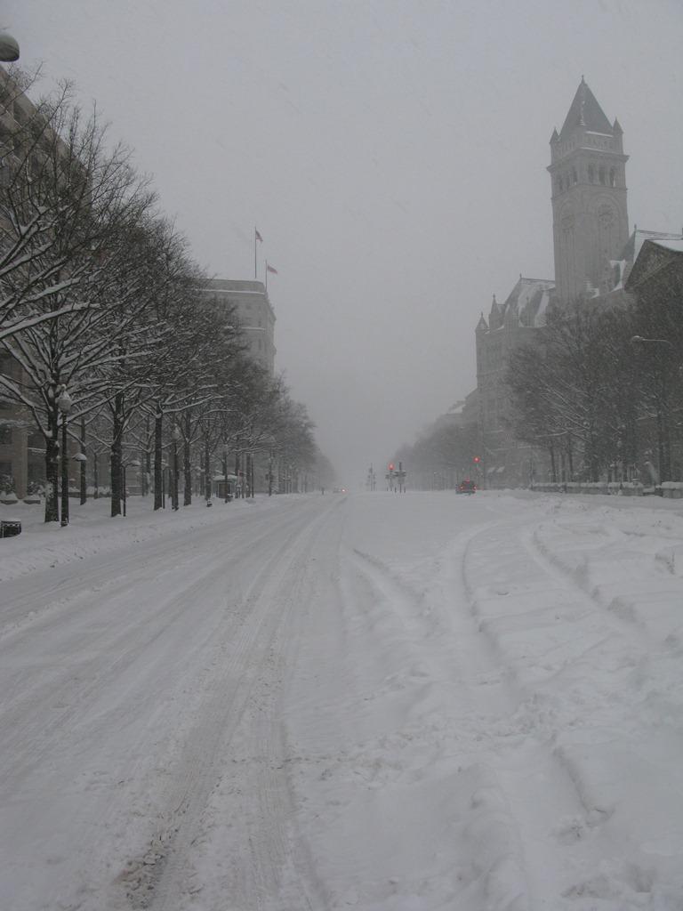 Pennsylvania Avenue Snowed In