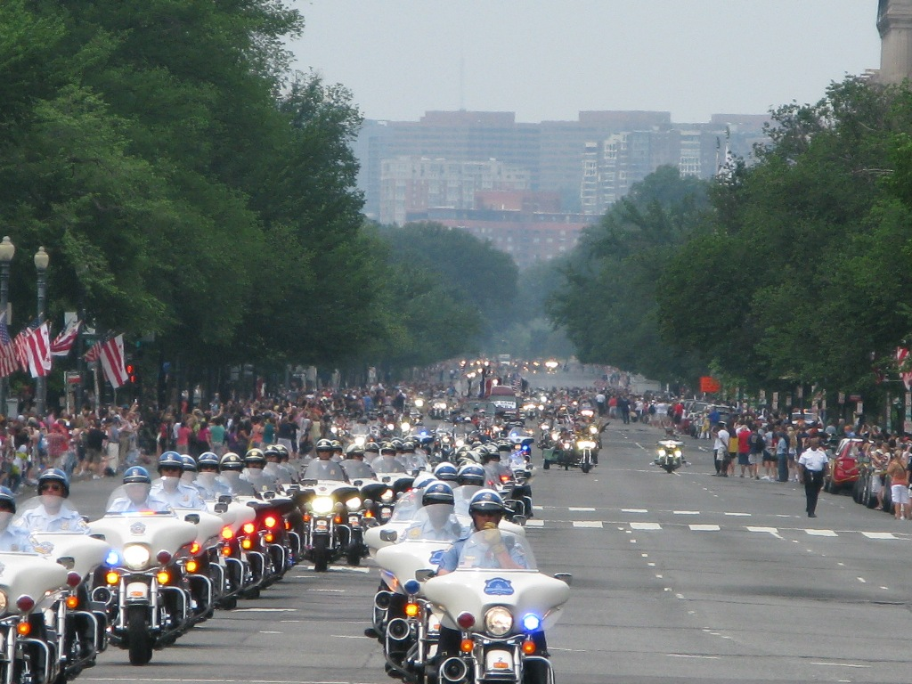 Rolling Thunder Coming Down Constitution Ave