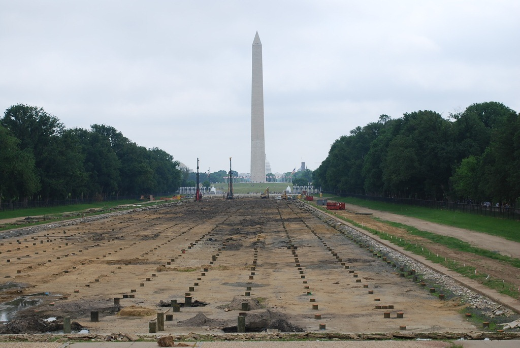 Reflection Pool Drained