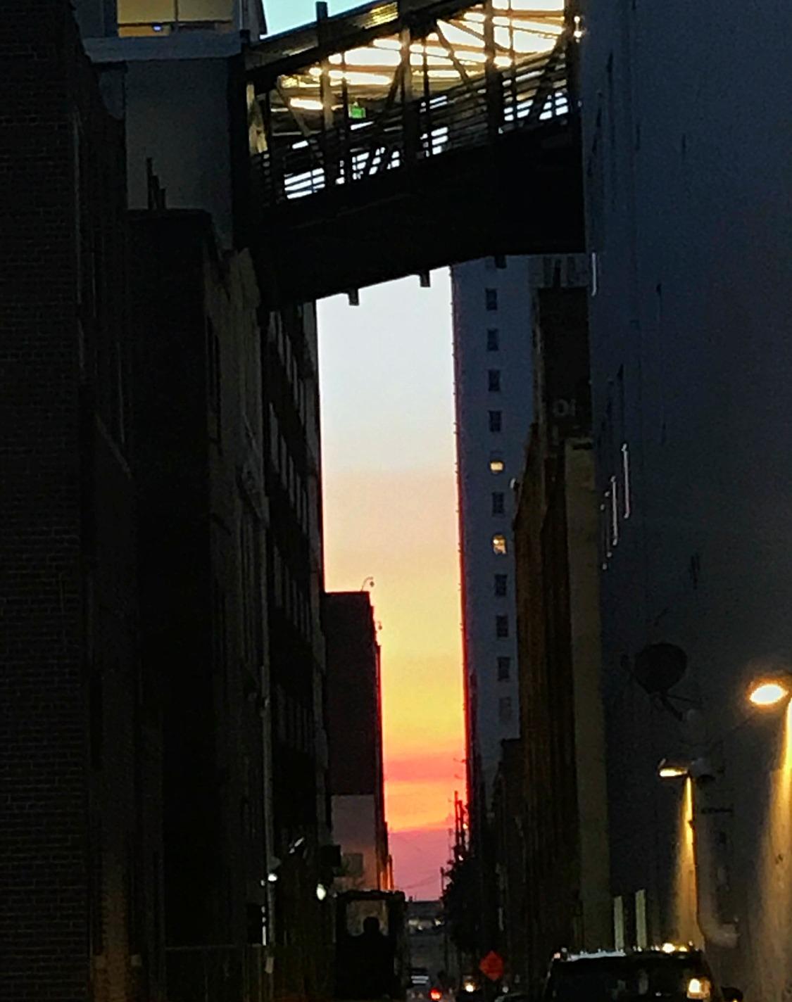 Sunset through Alley