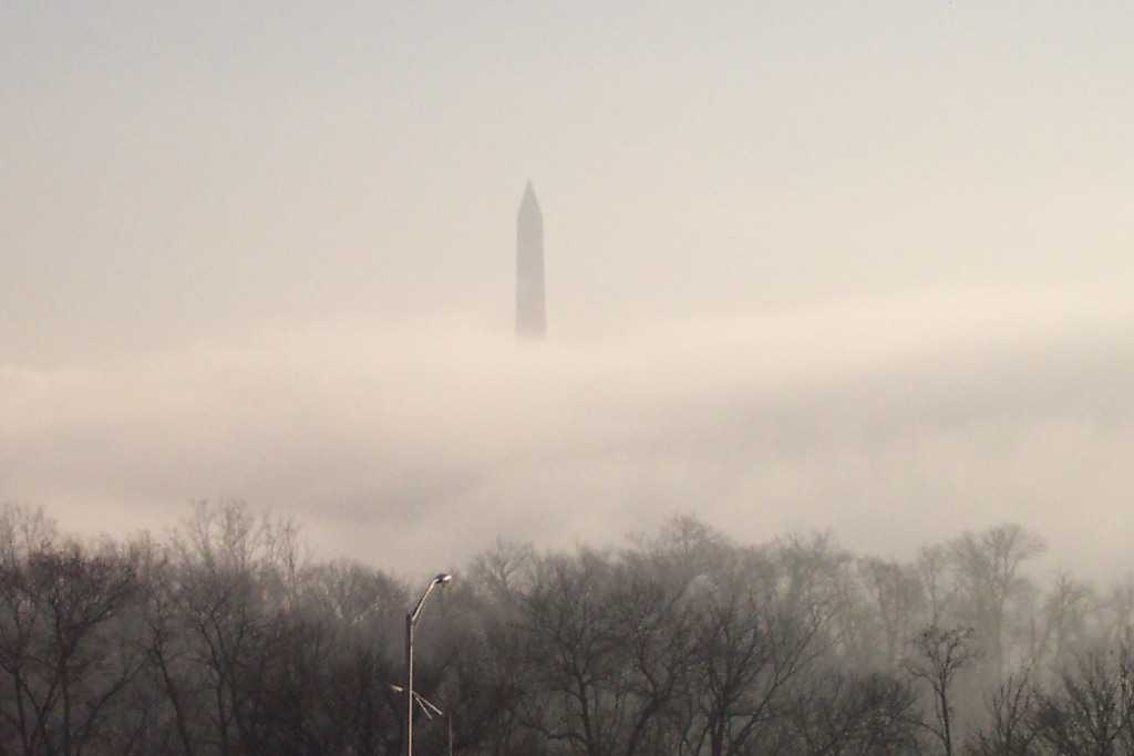 Washington Monument thru the Fog
